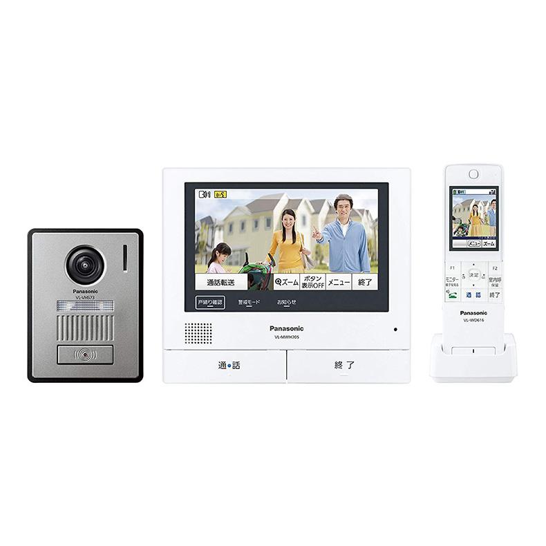 ワイヤレスモニター付 テレビドアホン パナソニック Panasonic VL-SWH705KL vl-swh705kl シルバー/ホワイト 外でもドアホン ドアホン親機 新品 送料無料