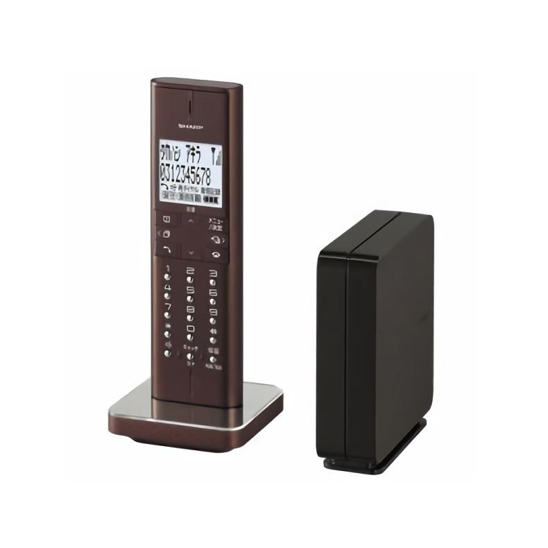デジタル コードレス 電話機 シャープ SHARP JD-XF1CL-T jd-xf1cl-t ブラウン系 コンパクトサイズ 縦置き専用 迷惑電話拒否機能 新品 送料無料