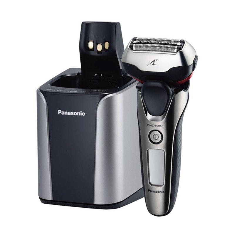 メンズシェーバー パナソニック Panasonic ES-LT8A シルバー調 3枚刃ラムダッシュ 3次元に動くヘッド 全自動洗浄充電器付 3Dアクティブサスペンション