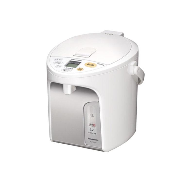 マイコン沸騰ジャーポット 電気ポット パナソニック Panasonic NC-HU224 ホワイト 2.2L U-Vacua ユーバキュア 省エネ コードレス電動給湯 自動充電式