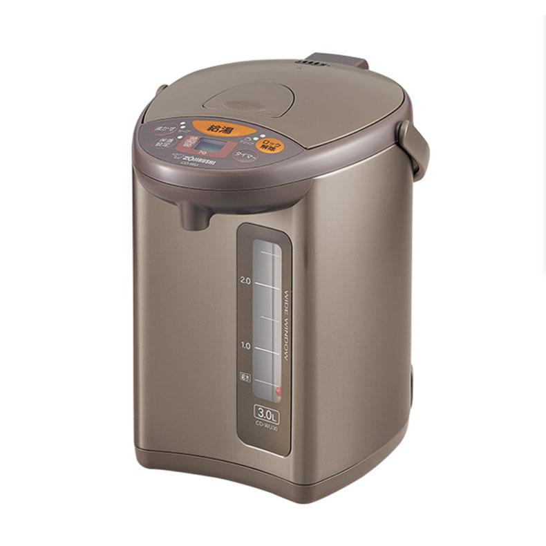マイコン沸とう電動ポット 電気ポット 象印 ZOJIRUSHI CD-WU40 メタリックブラウン 4.0L トリプルセーブ湯沸かしコース カフェドリップ機能 蒸気レス 電動式