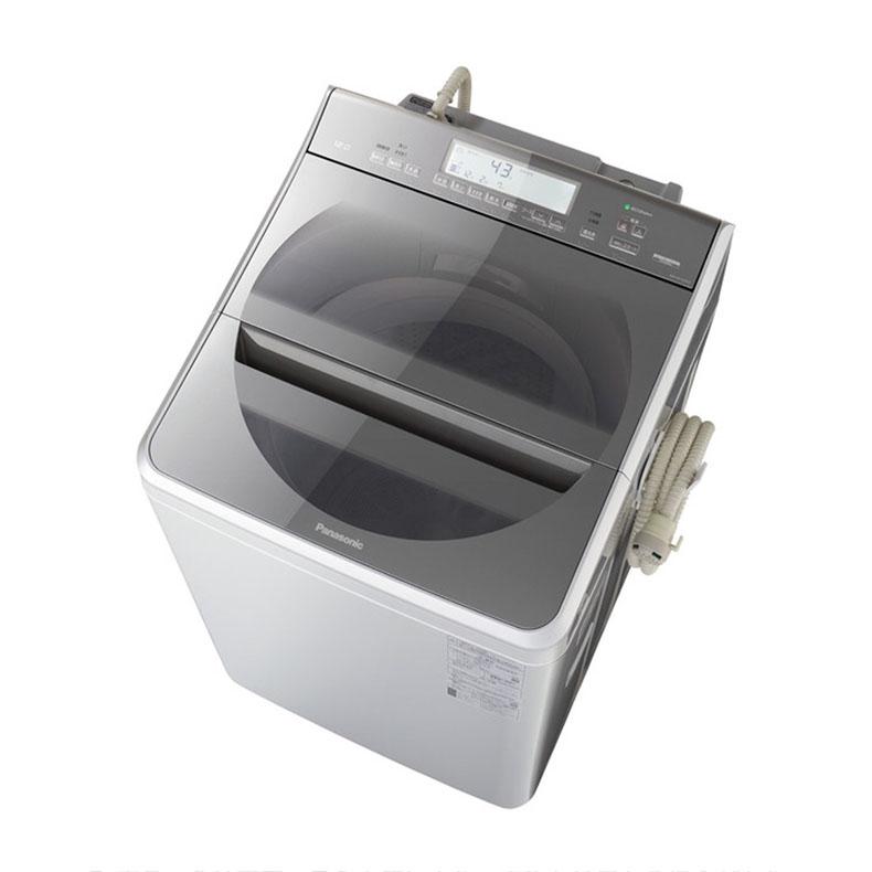 【標準設置込・送料無料】パナソニック Panasonic NA-FA120V2-S 全自動洗濯機 12.0kg 上開き シルバー インバーターモーター搭載 BIGサークル投入口 エコナビ