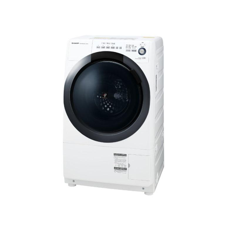 【標準設置込・送料無料】シャープ SHARP ES-S7D-WL ドラム式洗濯乾燥機 洗濯7.0kg 乾燥3.5kg 左開き ホワイト系 ヒーター乾燥 プラズマクラスター搭載