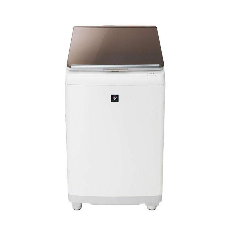 【標準設置込・送料無料】タテ型洗濯乾燥機 シャープ SHARP ES-PT10D ブラウン系 洗濯10kg 乾燥5kg 穴なしサイクロン洗浄 温風プラス洗浄 WIDEマウス&LOWボディハンガー乾燥