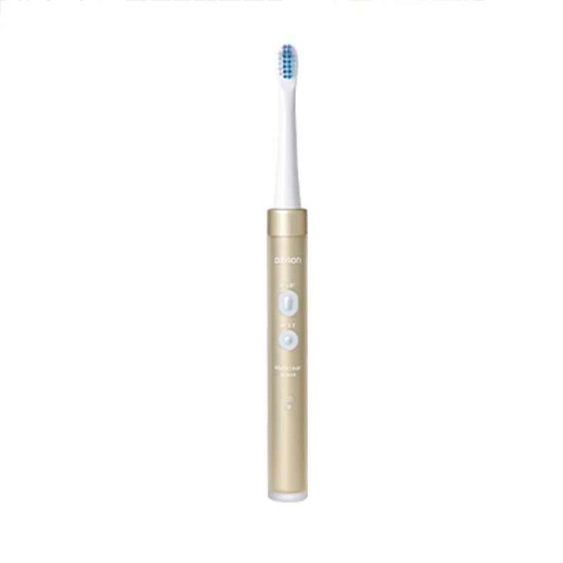 オムロン OMRON HT-B319-GD メディクリーン 音波式 ゴールド 音波式電動歯ブラシ タテ・ヨコ振動 3種類のブラシヘッド ステイン除去ブラシ 送料無料