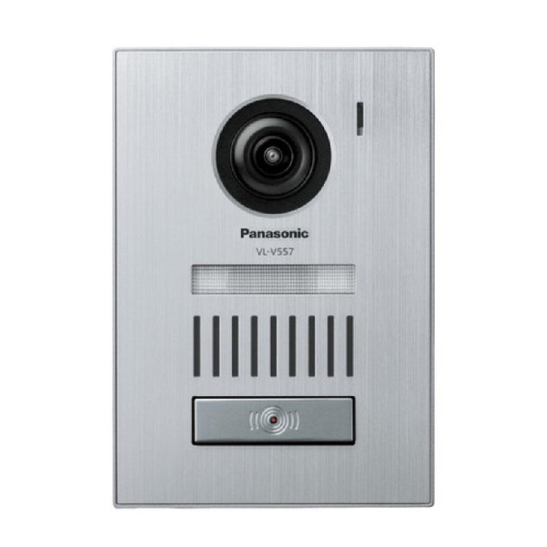 カラーカメラ玄関子機 パナソニック Panasonic VL-V557L シルバー LEDライト搭載 露出/埋込両用型 映像素子100万画素