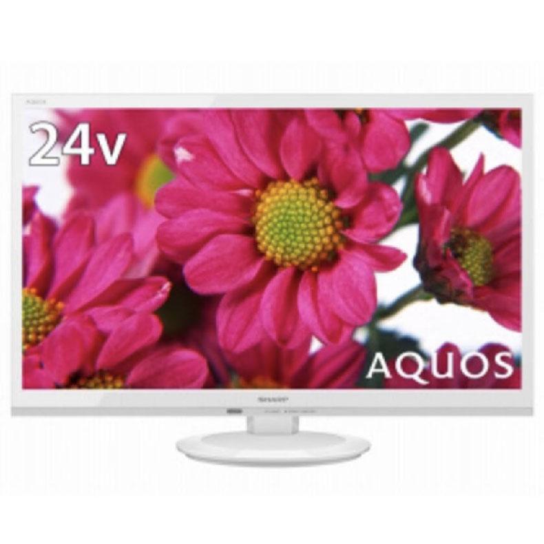 液晶テレビシャープ2T-C24ADホワイト24V型AQUOS簡単サクッと検索USB外付けハードディスク2画面表示対応裏番組録画対応LEDバックライト
