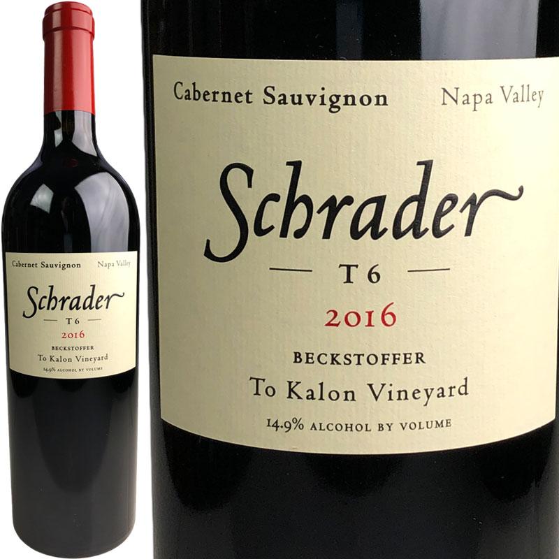 Schrader Cellars T6 Cabernet Sauvignon Beckstoffer To Kalon Vineyard [2016] / シュレーダー T6 カベルネ・ソーヴィニヨン ベクストファー ト・カロン ヴィンヤード [US][WA98][赤]