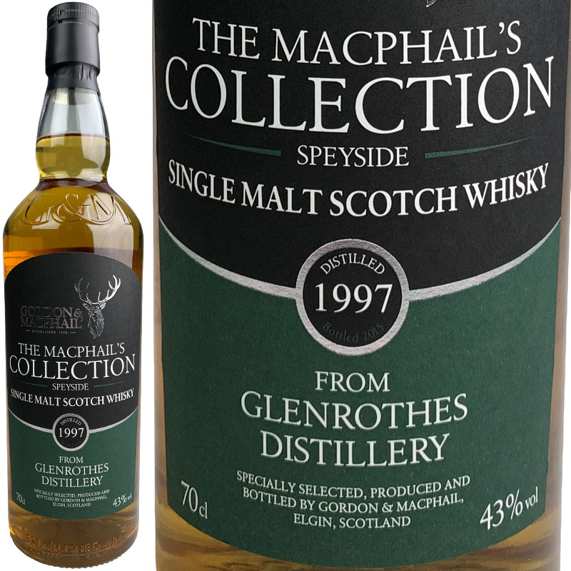 Gordon & MacPhail MacPhail's Collection Glenrothes FOR JIS [1997] / ゴードン&マクファイル マクファイルズ・コレクション グレンロセス FOR JIS [SW]