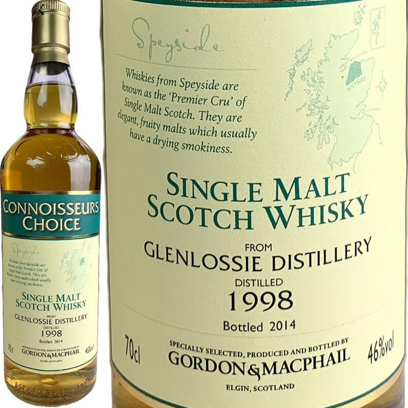 Gordon & MacPhail Connoisseurs Glenlossie [1998] / ゴードン&マクファイル コニサーズチョイス グレンロッシー [SW]