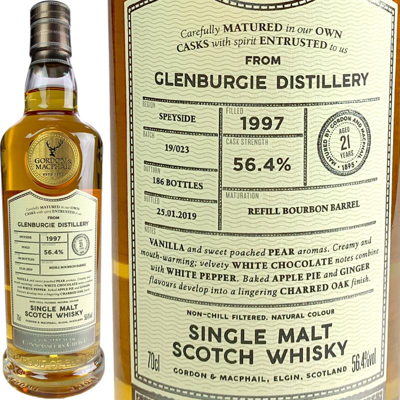 Gordon & MacPhail Connoisseurs Choice Cask Strength Glenburgie 21 yo [1997] / ゴードン&マクファイル コニサーズチョイス カスクストレングス グレンバーギー 21年 [SW]