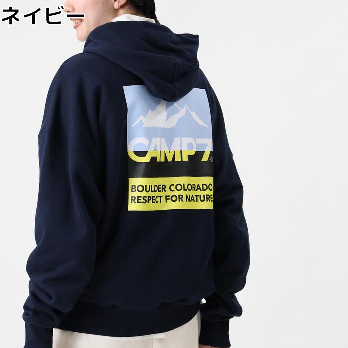 Right-on ライトオン CAMP7 百貨店 通常便なら送料無料 バイカラーバックプリントパーカーRight-on CP4302440012 キャンプ7