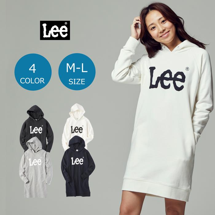 Lee ロゴスウェットパーカーワンピース ウィメンズRight-on,ライトオン,LT2423,Lee,リー