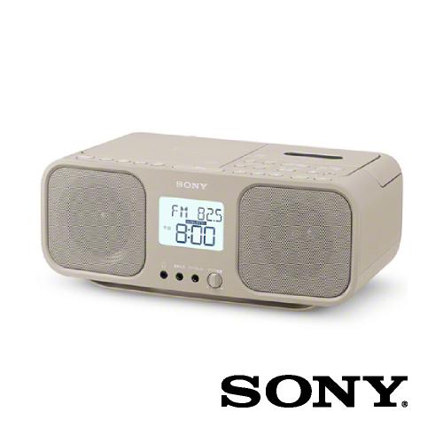 コンパクトCDラジカセ 大型液晶ディスプレイ ベージュ CFD-S401-TIC SONY ソニー