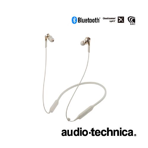 audio-technica オーディオテクニカ / ワイヤレスヘッドホン / φ11mm SOLID BASS HDドライバー / Bluetooth対応ヘッドセット / シャンパンゴールド[ATH-CKS770XBTCG]