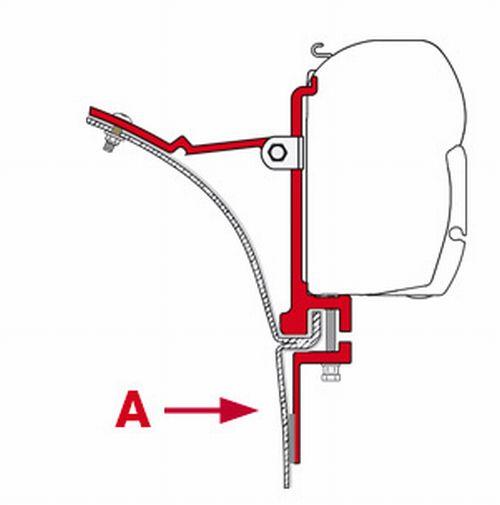 フィアマサイドオーニング取付ブラケット【1SET2ヶ所分】FIAMMAキットバン(FM097) 車両側穴あけ必要あり