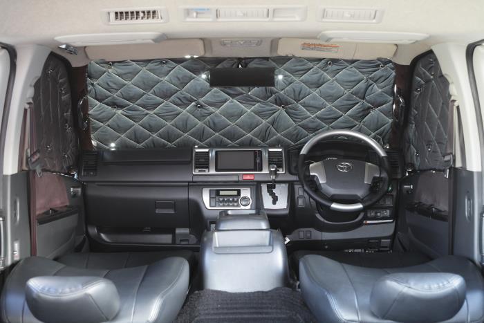 200系ハイエース2/4WD用[標準ボディ]Rim-サーモプロテクター【フロント3点セット】■代引き不可■