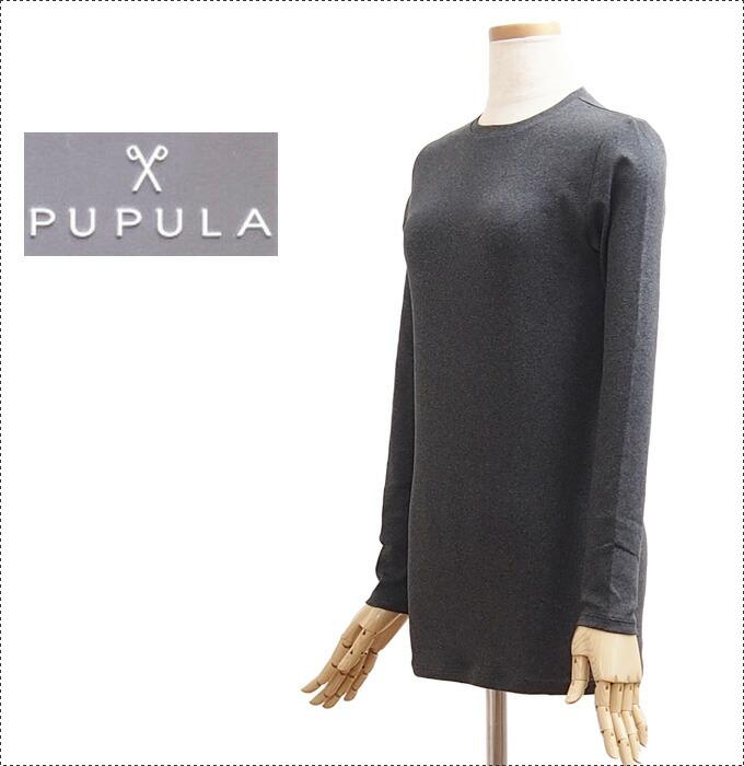 ププラ カットソー 長袖 ロンT 3色/白/黒/グレー(599010と同一商品です2020年3月品番)
