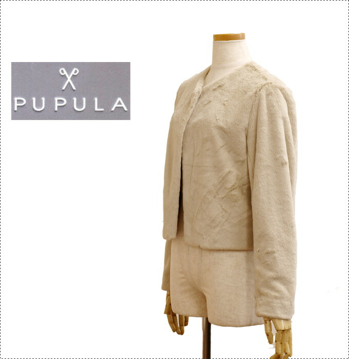 PUPULA ププラ  ジャケット・ボレロ 30代 ファッション レディース 体型カバー (レディース/カットソー/長袖/トップス/ジャケット/秋冬)
