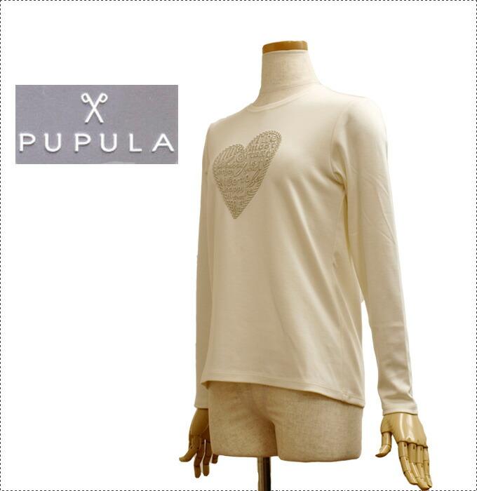 PUPULA ププラ プルオーバー・カットソー 30代 ファッション レディース 体型カバー (レディース/プルオーバー/ストライプ/カットソー/秋冬)