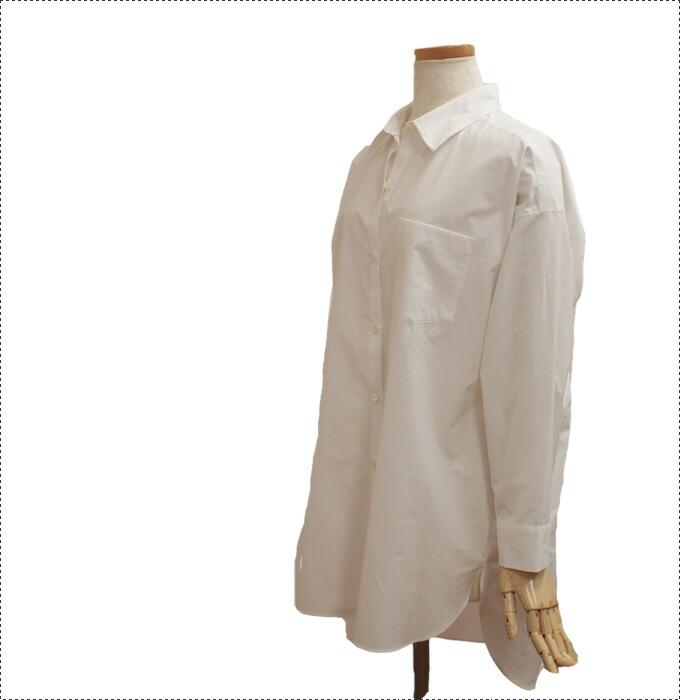 BEATRICE ベアトリス ロングシャツ 2色 白 ストライプ ファスサンファール
