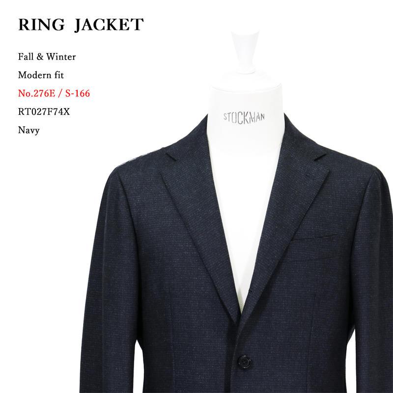 RING JACKET リングヂャケットModel No-276E S-166Vitale Barberis Canonicoヴィタル バルベリス カノニコ3Bスーツ【ネイビー】