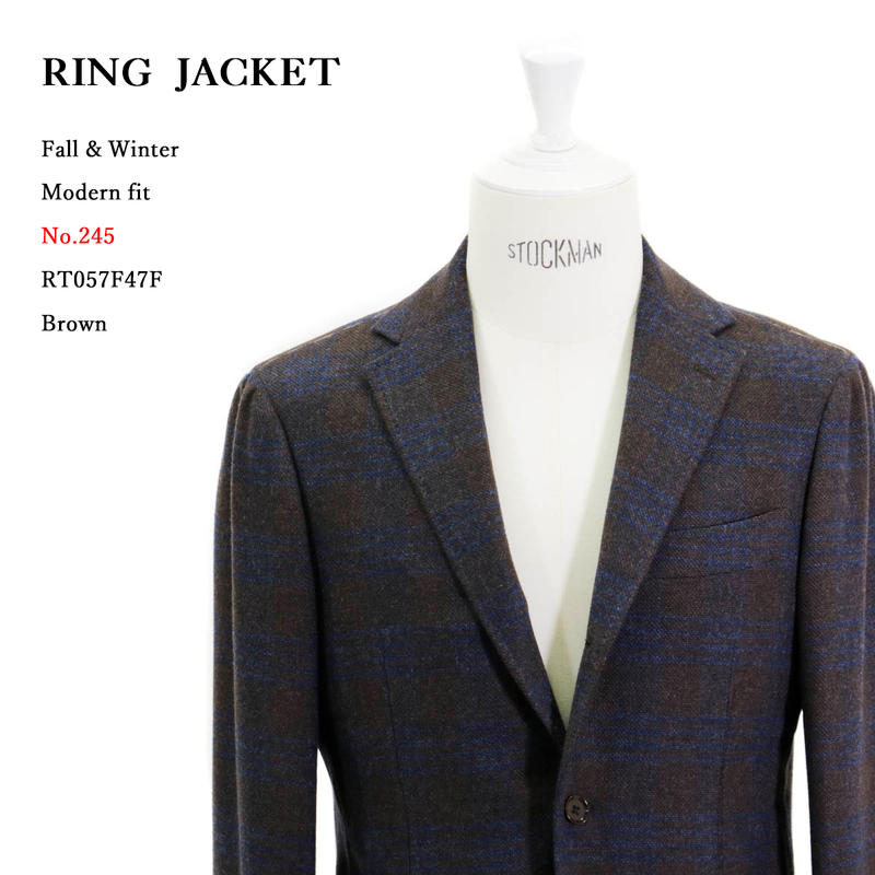 RING JACKET リングヂャケットModel No-245PIACENZA ピアツェンツァ3Bジャケット【ブラウン】