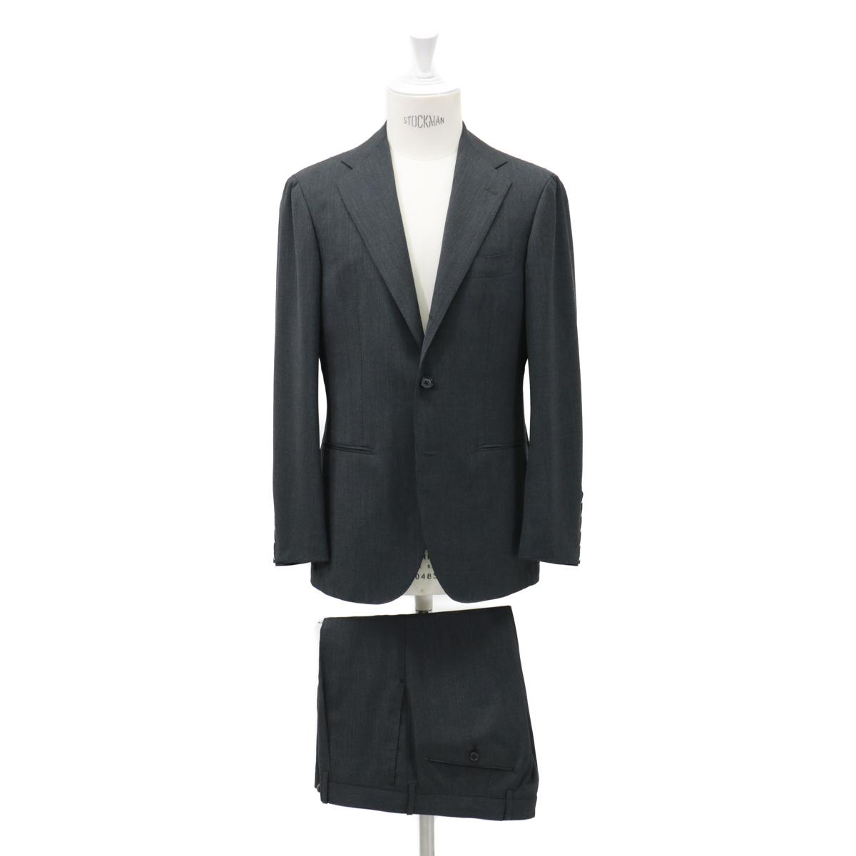 RING JACKET リングヂャケットModel No-253EH S-172HHIGH TWIST3Bスーツ【無地・チャコールグレー】