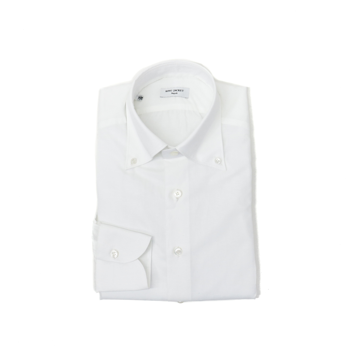 RING JACKET Napoli【リングヂャケット ナポリ】Shirts【シャツ】ボタンダウンカラー【無地 / ホワイト】