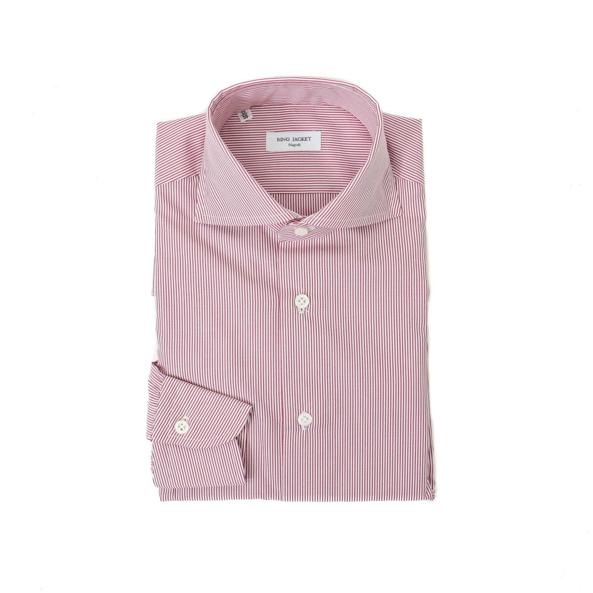 RING JACKET Napoli【リングヂャケット ナポリ】Shirts【シャツ】ワイドカラー【無地 / レッド】