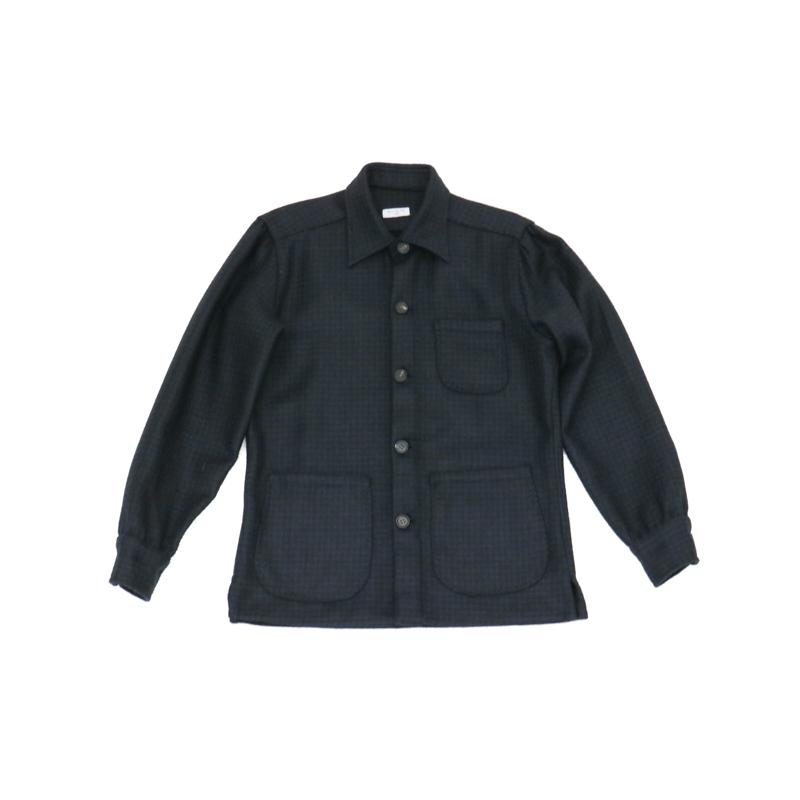 RING JACKET Napoli リングヂャケットナポリシャツジャケット【千鳥格子/ネイビー】