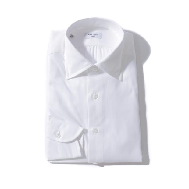 RING JACKET Napoli【リングヂャケット ナポリ】Shirts【シャツ】ヘリンボーン レギュラーカラー 【ホワイト】