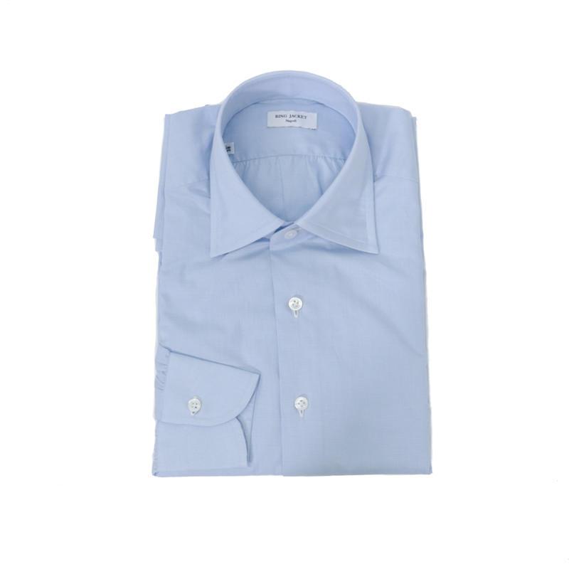 RING JACKET Napoli【リングヂャケット ナポリ】Shirts【シャツ】レギュラーカラー【ソリッド / サックスブルー】