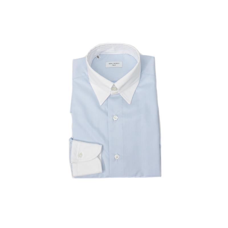 RING JACKET Napoli【リングヂャケット ナポリ】Shirts【シャツ】タブカラー【ソリッド / サックスブルー】