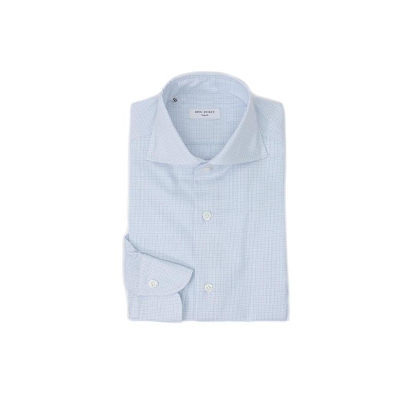 RING JACKET Napoli【リングヂャケット RING ナポリ】Shirts【シャツ/】ワイドカラー JACKET【マイクロチェック/ サックスブルー】, BEANS Online Shop:6c78a7df --- djcivil.org