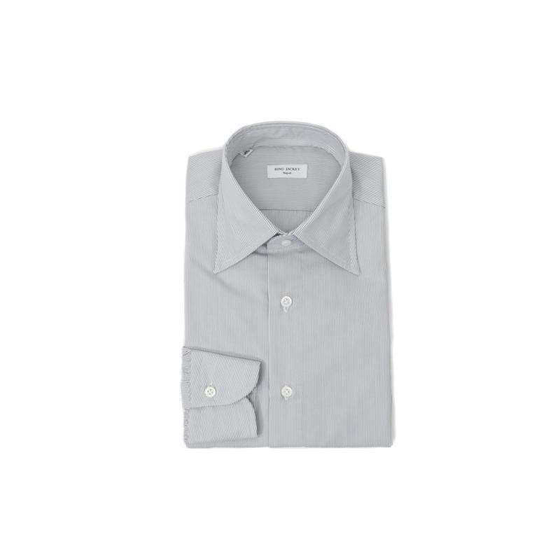 RING JACKET Napoli【リングヂャケット ナポリ】Shirts【シャツ】ロングポイントカラー【ストライプ / グレー】