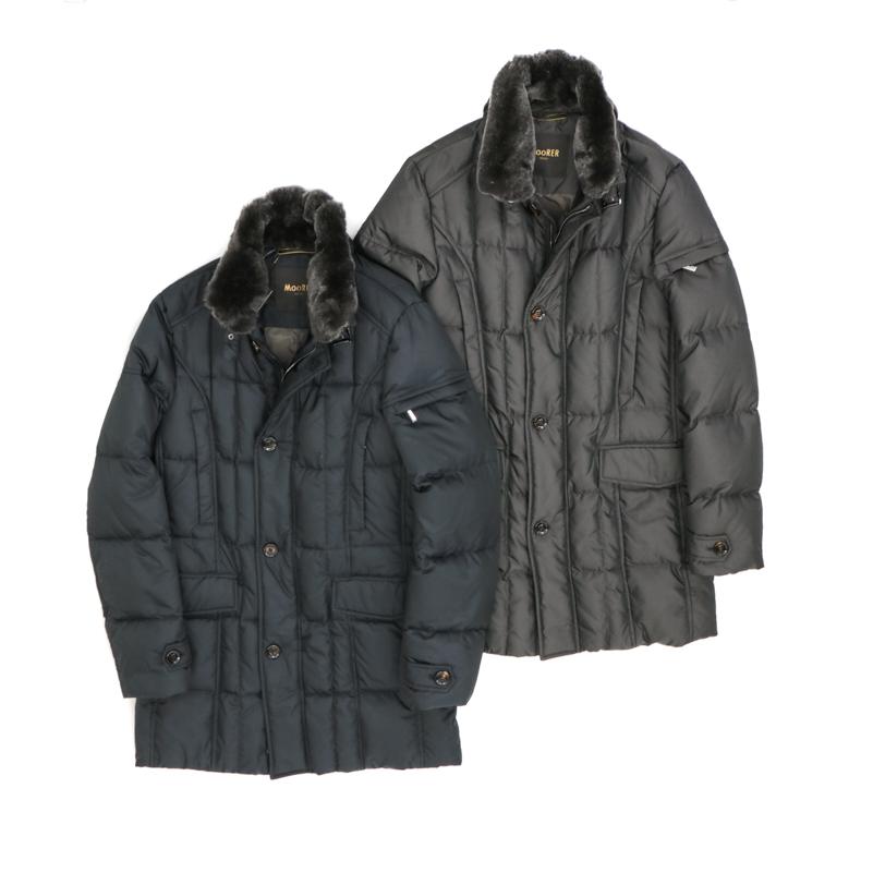 MOORER / ムーレーDown Coat / ダウンコートVALENTE-KM 【ネイビー・ブラウン】