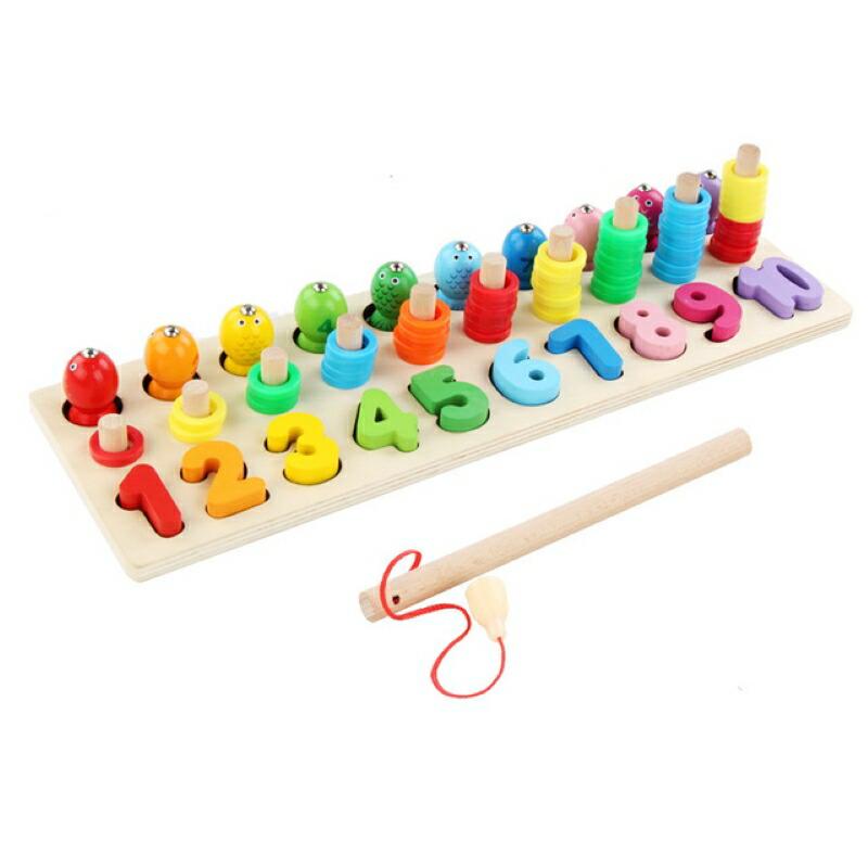 お洒落 モンテッソーリおもちゃ 釣り- 数字 知育 おもちゃ 釣り 釣りおもちゃ 魚釣り遊び 魚つり ゲーム オモチャ 木製 型はめ ブロックおもちゃ 数学力アップ 幼児 積み木 玩具 形合わせ 知育玩具 日本全国 送料無料 パズル