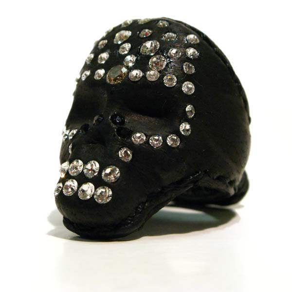 ZD Skull Diamond 革リング