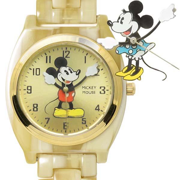 Disney [ミッキーマウス][ミニーマウス]アイボリー アセテート ウォッチ