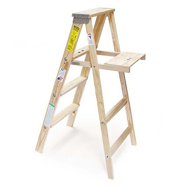 【michigan ladder】ウッド ステップ ラダー USA木製脚立 4段
