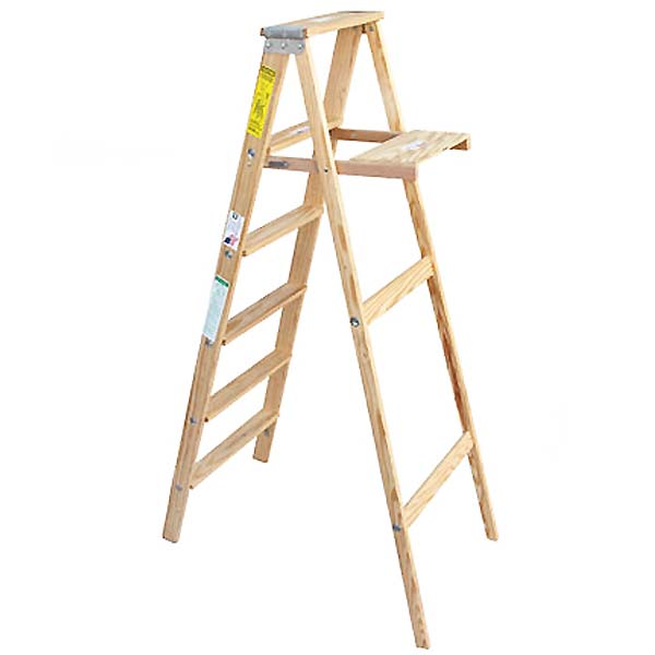 【michigan ladder】ウッド ステップ ラダー USA木製脚立 6段