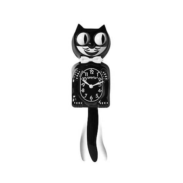 壁掛けフックが貰える California Clock Company Kit Cat のミニサイズ 仔猫 Klock キティー 価格 振り子時計 Kitty-cat クロック キャット 送料無料カード決済可能