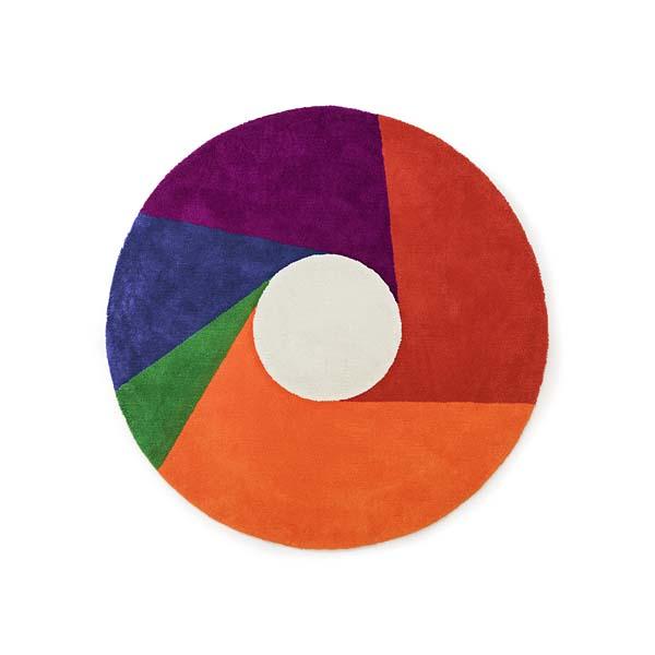 MAX BILL【マックス ビル】ラグ マット Color Wheel カラー ホイール 1600