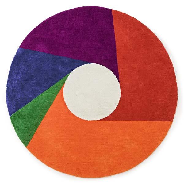 MAX BILL【マックス ビル】ラグ マット Color Wheel カラー ホイール 2000 (受注生産品)