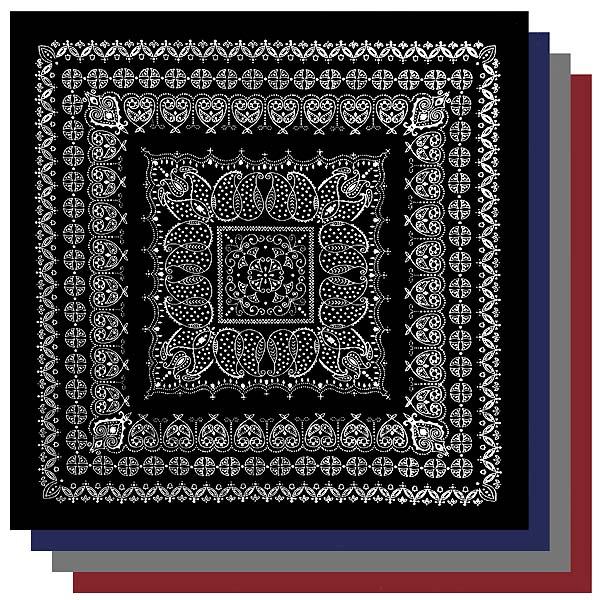バンダナ ラグマット リーフ 2.2m×2.2m 正方形サイズXXL