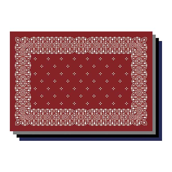 バンダナ ラグマット 1.6m×1.2m 長方形サイズML