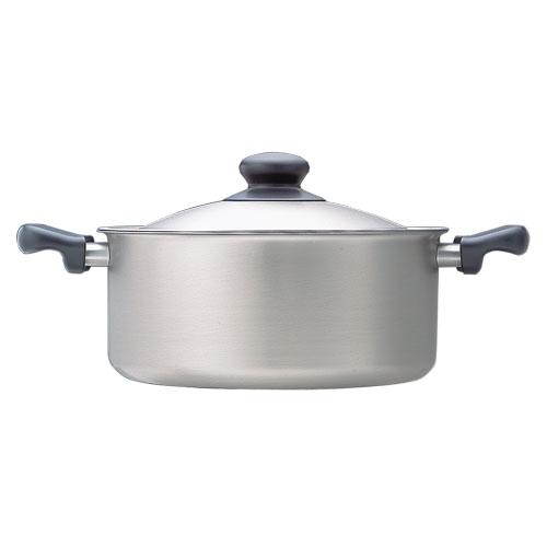 【送料無料】柳宗理 ステンレス・アルミ3層鋼 両手鍋 22cm(浅型)【製造元出荷】
