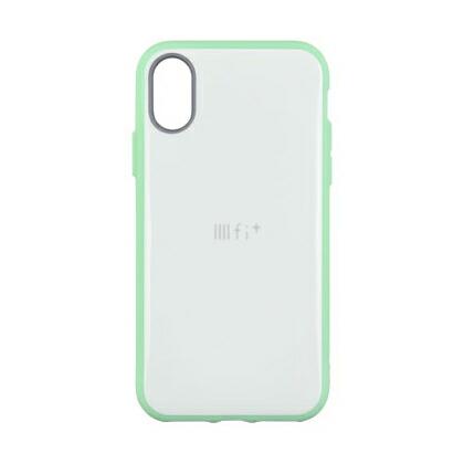 1 600円以上のお買い物で送料無料 iPhoneXS X対応耐衝撃ケース スマホケース アイフォン IIIIfi+ IFT-15LGR 贈答品 イーフィット R ※アウトレット品 ライトトーンシリーズ X対応ケース ライトグリーン
