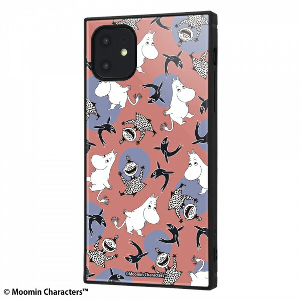 1 再再販 600円以上のお買い物で送料無料 iPhone 11 対応ケース スマホケース アイフォン KAKU IQ-AP21K3TB ムーミン メーカー公式ショップ パターン_1 11対応耐衝撃ハイブリッドケース MT012